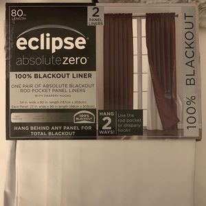 2 Panels - Blackout Curtain Liners